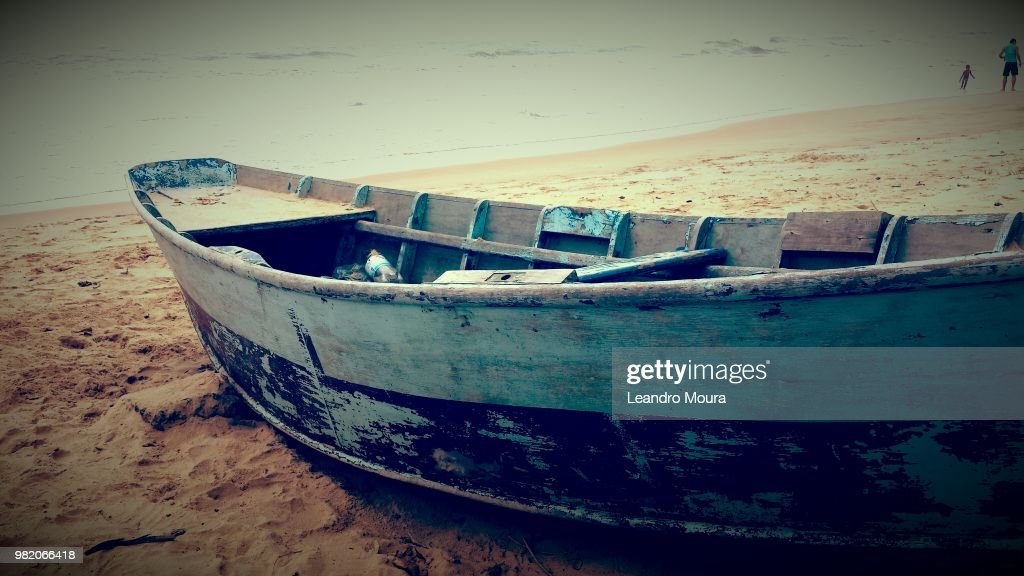 Barco na Areia : Stock Photo