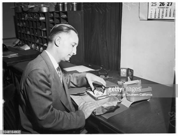 Bard extortion case At the District Attorney's Office 16 November 1951 Ben BardMrs Ben Bard S Ernest Roll District AttorneyGeorge WallaceRobert W...