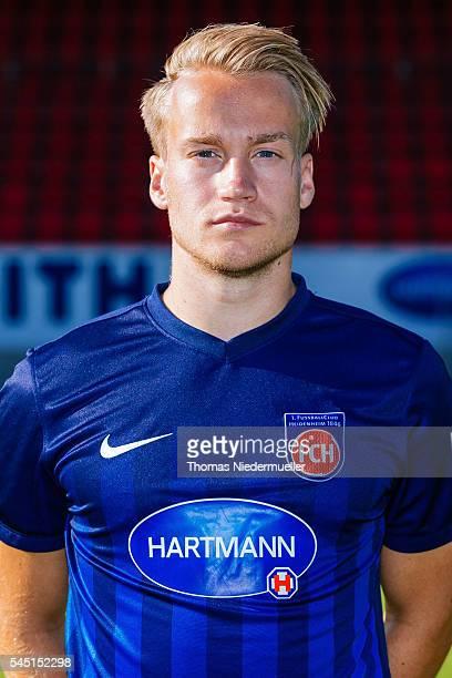 Bard Finne poses during the 1FC Heidenheim team presentation at VoithArena on July 5 2016 in Heidenheim Germany