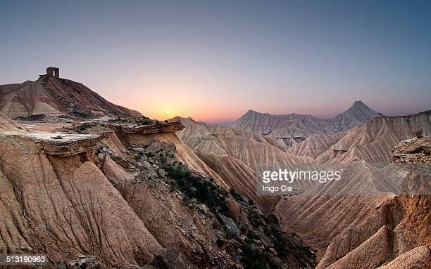 Bardenas desert sunset