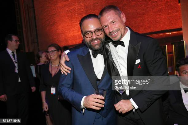 Bardia Torabi General Manager Roomers Munich and Hans Wehrmann during the aftershow party of the 24th Opera Gala benefit to Deutsche AidsStiftung at...