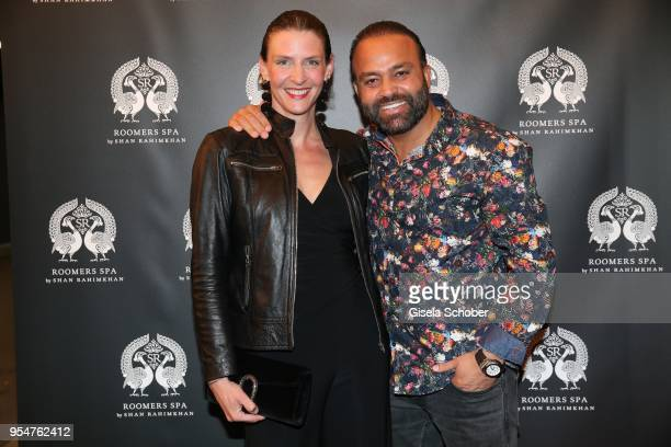 Bardia Torabi, General Manager Roomers Munich and his wife Melanie Weiler during the Grand Opening of Roomers Spa by Shan Rahimkhan on May 4, 2018 in...