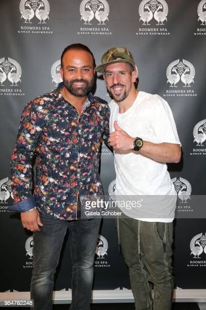 Bardia Torabi, General Manager Roomers Munich and soccer player Franck Ribery during the Grand Opening of Roomers Spa by Shan Rahimkhan on May 4,...