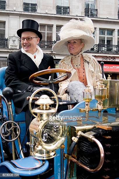 Bardon Type A Tonneau Dr David Martyr at the wheel with lady passenger entered in The International Concours D'Elegance at Regent Street on November...