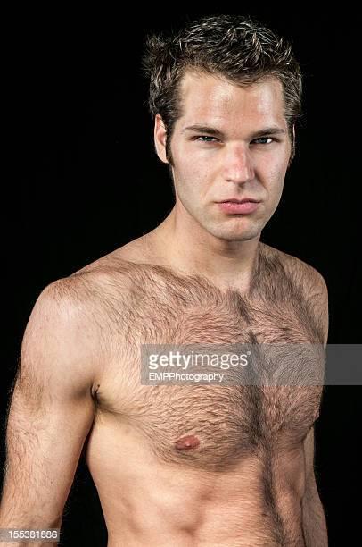 bare chested mann isoliert auf schwarz - chest barechested bare chested stock-fotos und bilder