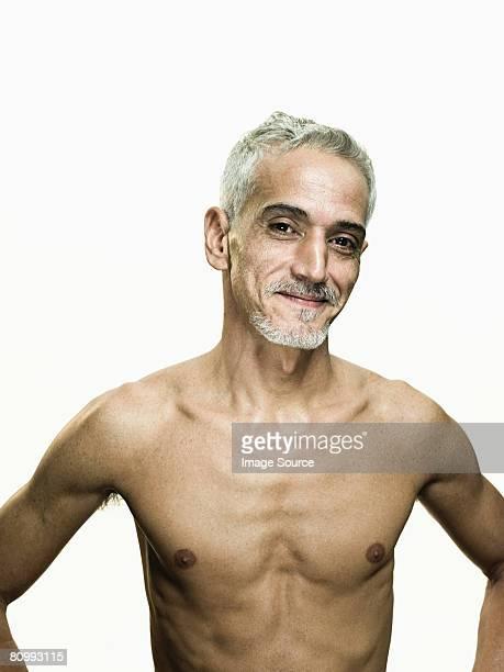 bare chested man - hombre desnudo fondo blanco fotografías e imágenes de stock