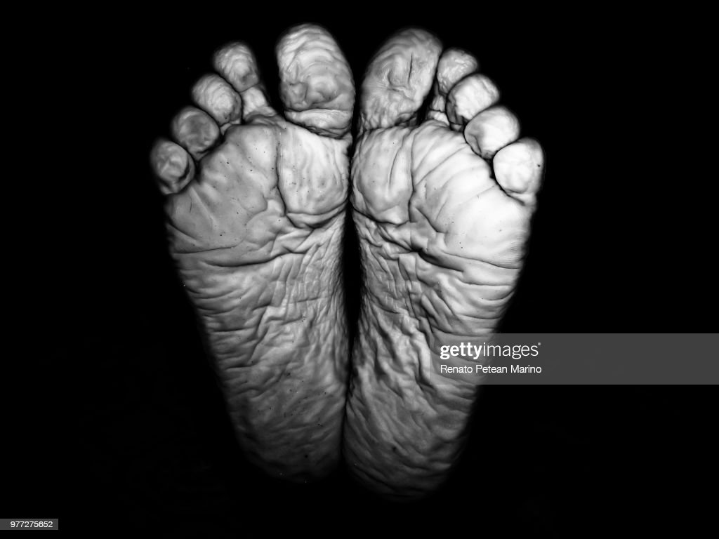 Bare crease feet, Piracicaba, Brazil : Stock Photo