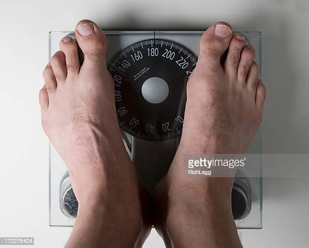 素足バスルームに体重計
