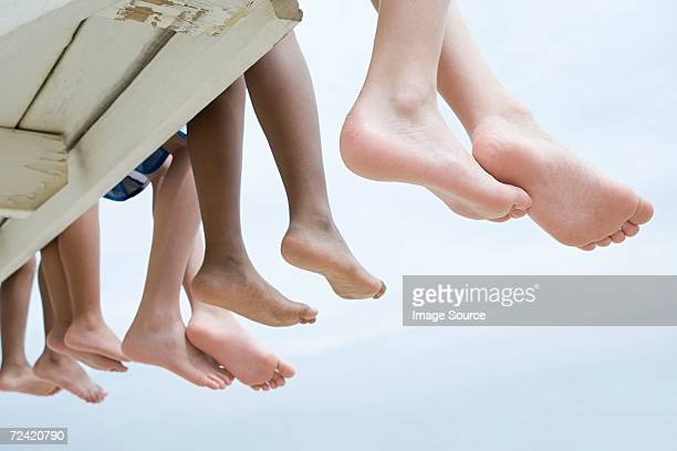 bare feet - young feet stock photos and pictures