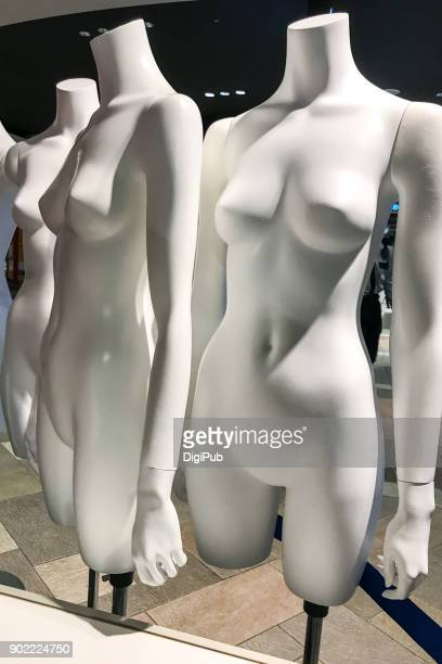 Bare female like mannequins