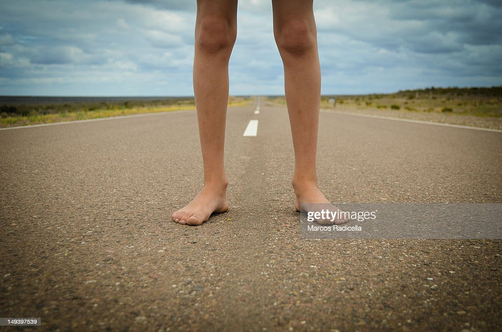 Bare foot : Stock Photo