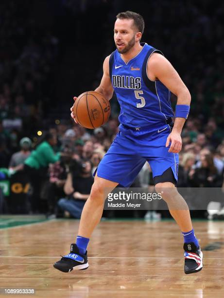 Barea of the Dallas Mavericks dribbles against the Boston Celtics during the first half at TD Garden on January 04, 2019 in Boston, Massachusetts....