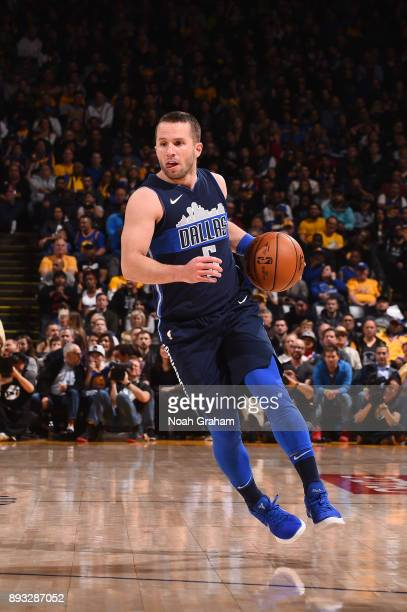 J Barea of the Dallas Mavericks handles the ball against the Golden State Warriors on December 14 2017 at ORACLE Arena in Oakland California NOTE TO...