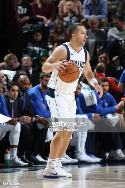 J Barea of the Dallas Mavericks handles the ball against the Utah Jazz on October 30 2017 at Vivint Smart Home Arena in Salt Lake City Utah NOTE TO...