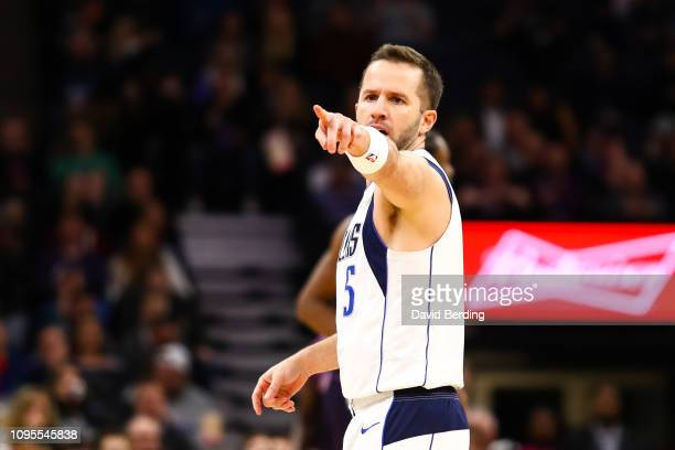 Barea of the Dallas Mavericks reacts after hitting a three point shot in the third quarter against the Minnesota Timberwolves at Target Center on...