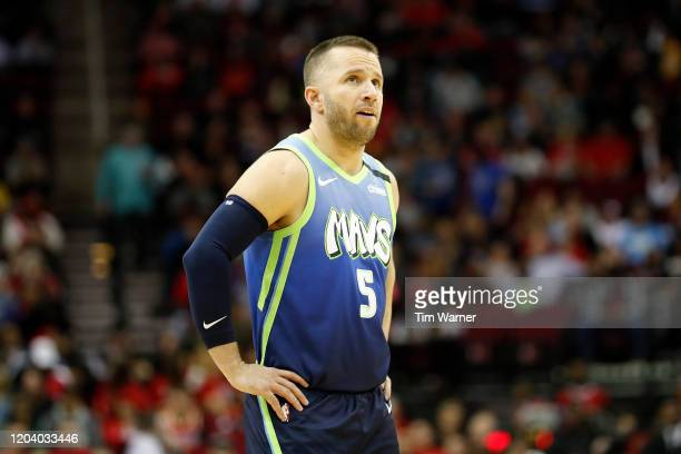 Barea of the Dallas Mavericks reacts in the first half against the Houston Rockets at Toyota Center on January 31, 2020 in Houston, Texas. NOTE TO...
