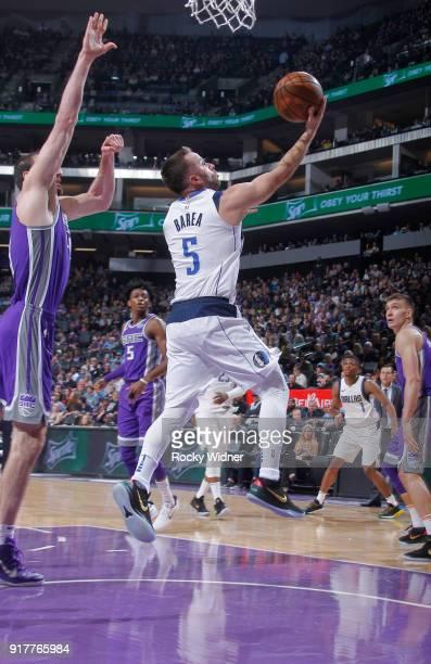 J Barea of the Dallas Mavericks shoots a layup against the Sacramento Kings on February 3 2018 at Golden 1 Center in Sacramento California NOTE TO...