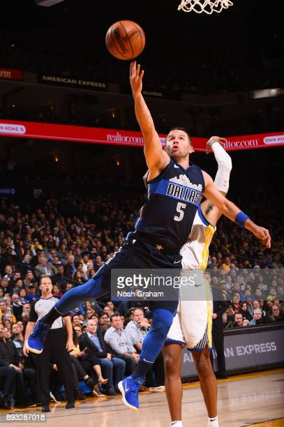 J Barea of the Dallas Mavericks shoots the ball against the Golden State Warriors on December 14 2017 at ORACLE Arena in Oakland California NOTE TO...