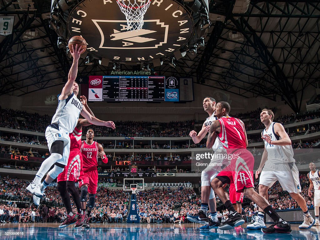 J.J. Barea #5 of the Dallas Mavericks shoots the ball against the Houston Rockets on April 6, 2016 at the American Airlines Center in Dallas, Texas.