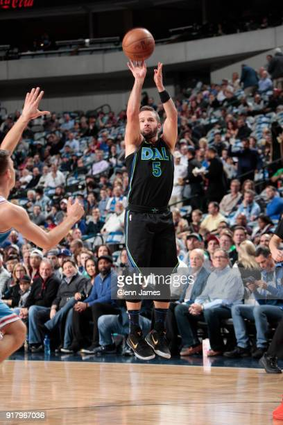 J Barea of the Dallas Mavericks shoots the ball against the Sacramento Kings on February 13 2018 at the American Airlines Center in Dallas Texas NOTE...