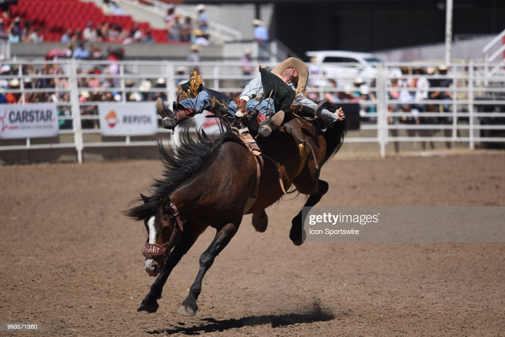 A Bareback Rider Competes At The Calgary Stampede On July