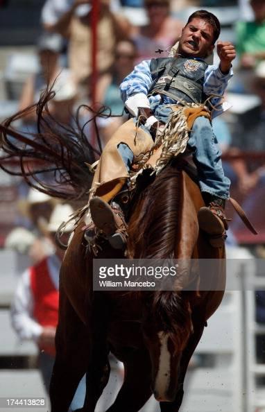 Bareback Rider Ethan Assmann Is Seen Riding Jewel During A