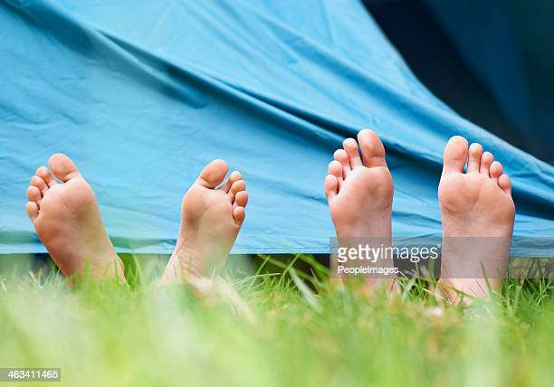 Barefoot campers