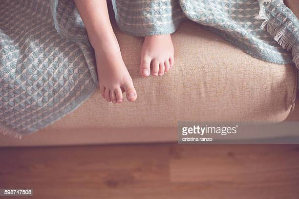 barefoot girl - girls open legs stock photos and pictures
