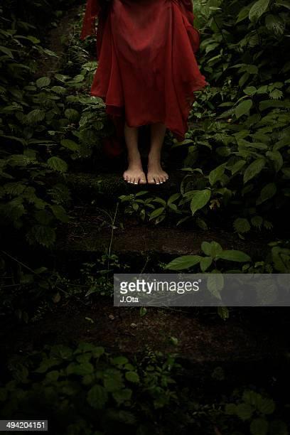 Barefoot in the garden
