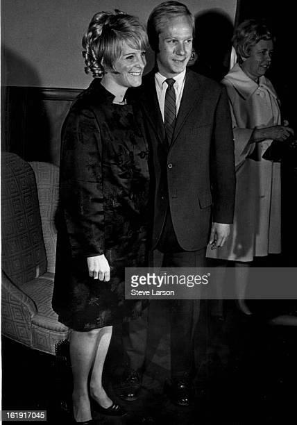 FEB 20 1969 FEB 21 1969 Barefoot in The Park Opens At Bonfils John C Davis IV and his fiancee Miss Carol Ann Rymer arrive Thursday at Bonfils Theatre...