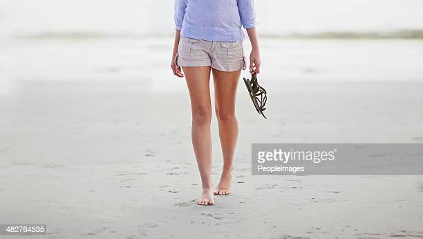 barefoot on the beach - sandal stock pictures, royalty-free photos & images
