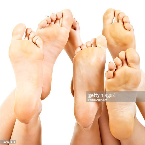 barefoot - female feet soles stock photos and pictures