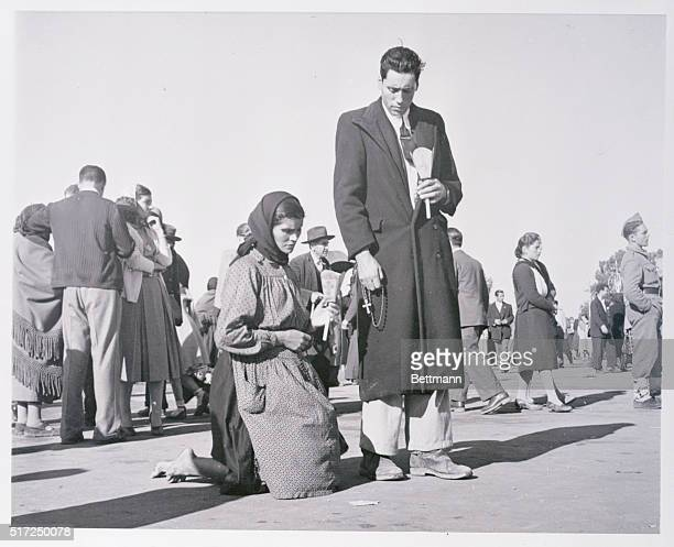 Barefoot Pilgrim at the Shrine of Fatima Portugal