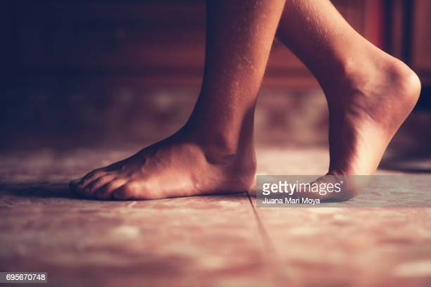 Barefooted feet