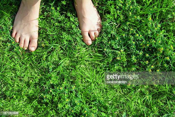 barefooted on the grass (real emotions)