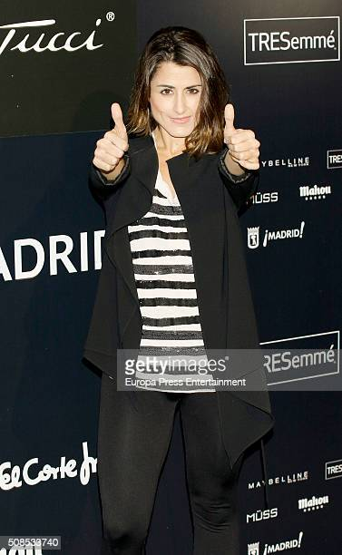 Barei attends Emidio Tucci fashion show photocall on February 4 2016 in Madrid Spain