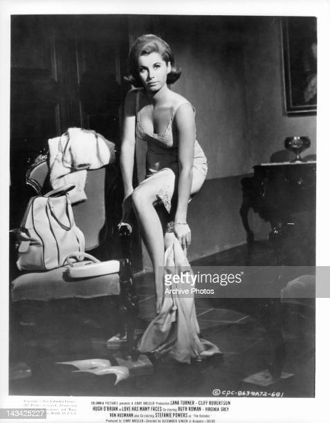 Barely dressed Stefanie Powers in a scene from the film 'Love Has Many Faces' 1965