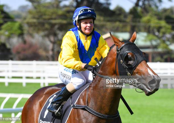 Barend Vorster riding Vinco after winning Race 5 Martin Collins Polytrack Sires during Mornington Cup Day at Mornington Racecourse on March 23 2019...