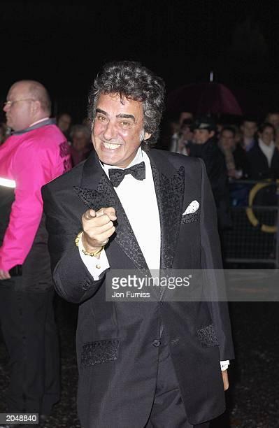 'Bargain Hunt' presenter David Dickenson at the 2002 National Television Awards at the Royal Albert Hall October 14 2002 'Bargain Hunt' won an an...