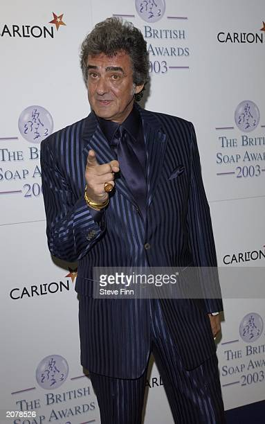 Bargain Hunt presenter David Dickinson at the British Soap Awards 2003 held at BBC Television Centre on May 10 London England This is the 5th annual...