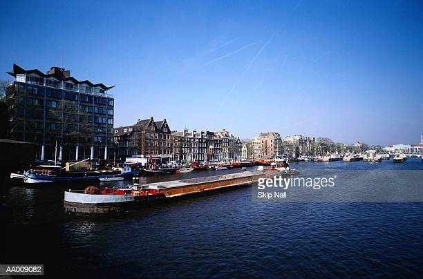 Barge on the Amstel River