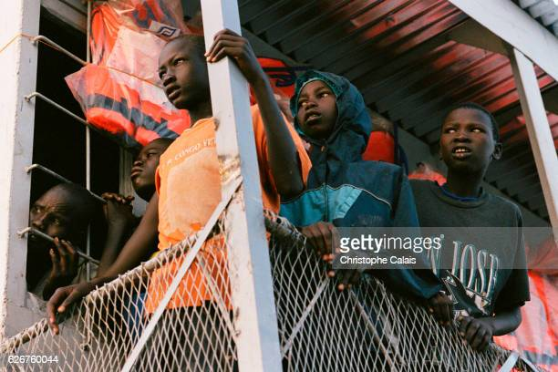 A barge operated by IOM repatriates 325 Dinkas who fled the Bor Area in 1992 because of the civil war The barge is taking them back to Bor 150 kms to...