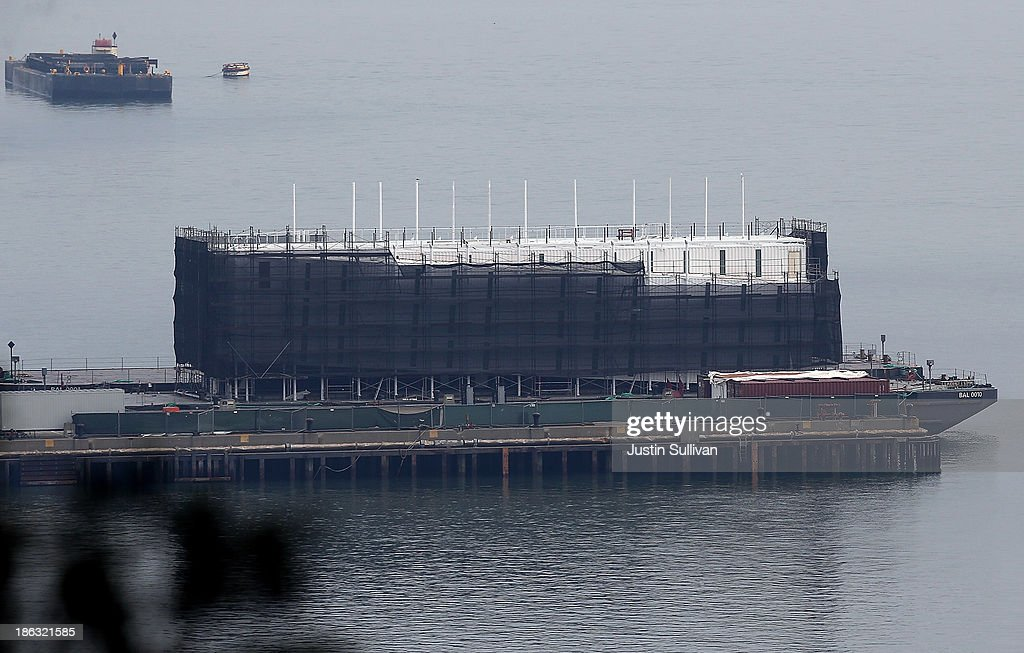 Mystery Barge Construction Project Rumored To Google Project : News Photo