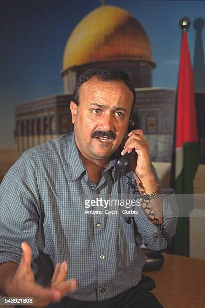 Barghouthi Marwan leader of the 'Tamzin' para military group in his office in Ramallah
