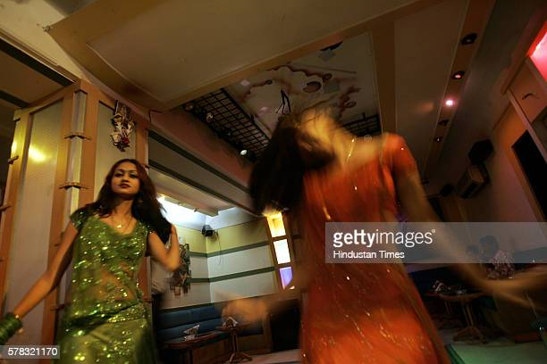 Bargirls giving their last performance at bar Dadar as today is the last day of dance bars