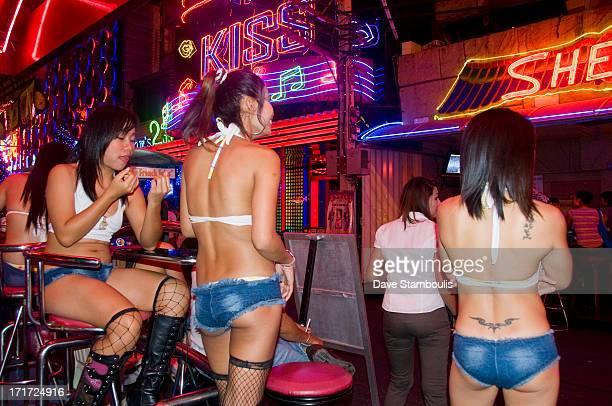 Bargirls out in Soi Cowboy in Bangkok, Thailand