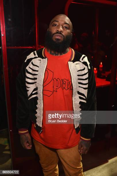 Bari attends the celebration of Tupac's Powamekka Cafe and preview of Tupac by Vlone on April 6 2017 in New York City