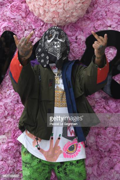 ASAP Bari attends the Dior Homme Menswear Spring/Summer 2019 show as part of Paris Fashion Week on June 23 2018 in Paris France