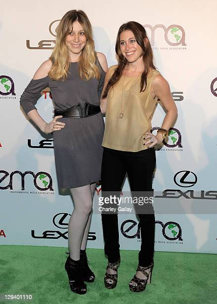 Bari Milken Bernstein and Alexx Jae Monkarsh arrive at the 20th Annual Environmental Media Awards held at Warner Bros Studios on October 16 2010 in...