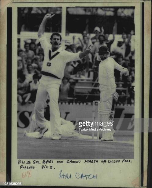 Bari out caught marsh of Lillee for 1 November 14 1981